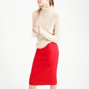 J. Crew • Red wool No. 2 Pencil skirt